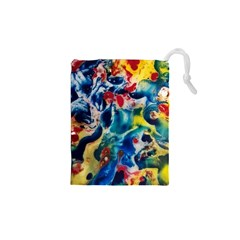 Colors of the world Bighop Collection by Jandi Drawstring Pouches (XS)