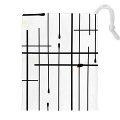 White Limits By Jandi Drawstring Pouches (xxl)