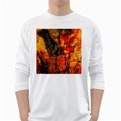 Jandi White Long Sleeve T Shirts