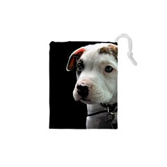 Pit Bull T Bone Puppy Drawstring Pouches (XS)