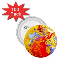 Gold And Red 1 75  Buttons (100 Pack)