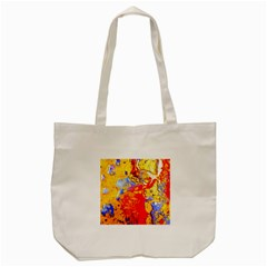 Gold And Red Tote Bag (cream)