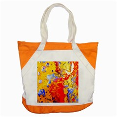 Gold And Red Accent Tote Bag