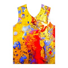 Gold And Red Men s Basketball Tank Top