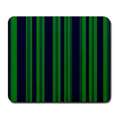 Dark Blue Green Striped Pattern Large Mousepads