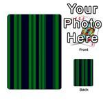 Dark Blue Green Striped Pattern Multi-purpose Cards (Rectangle)  Front 38