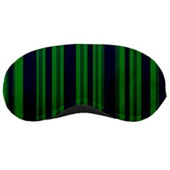 Dark Blue Green Striped Pattern Sleeping Masks