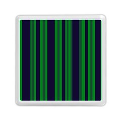 Dark Blue Green Striped Pattern Memory Card Reader (square)