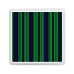 Dark Blue Green Striped Pattern Memory Card Reader (Square)  Front