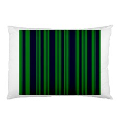 Dark Blue Green Striped Pattern Pillow Case (two Sides)