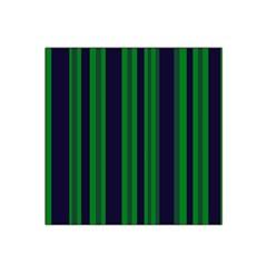 Dark Blue Green Striped Pattern Satin Bandana Scarf