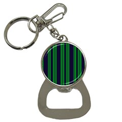 Dark Blue Green Striped Pattern Bottle Opener Key Chains