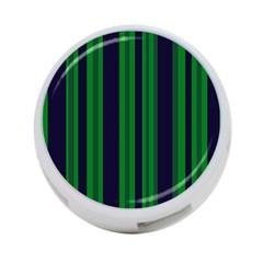 Dark Blue Green Striped Pattern 4-Port USB Hub (Two Sides)