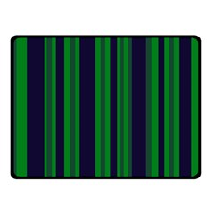 Dark Blue Green Striped Pattern Fleece Blanket (small)