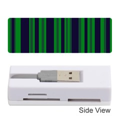 Dark Blue Green Striped Pattern Memory Card Reader (stick)