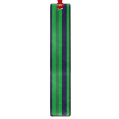Dark Blue Green Striped Pattern Large Book Marks