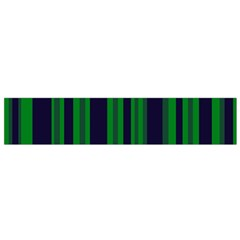 Dark Blue Green Striped Pattern Flano Scarf (small)