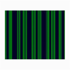 Dark Blue Green Striped Pattern Small Glasses Cloth (2 Side)
