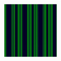 Dark Blue Green Striped Pattern Medium Glasses Cloth