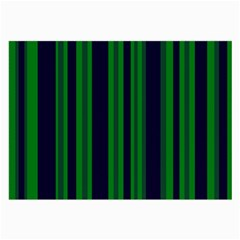 Dark Blue Green Striped Pattern Large Glasses Cloth