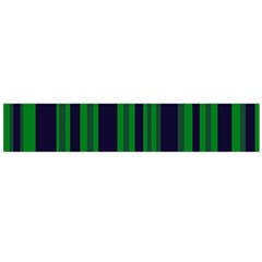 Dark Blue Green Striped Pattern Flano Scarf (Large)