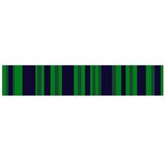 Dark Blue Green Striped Pattern Flano Scarf (Large)