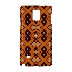 Brown Leaves Pattern 			samsung Galaxy Note 4 Hardshell Case