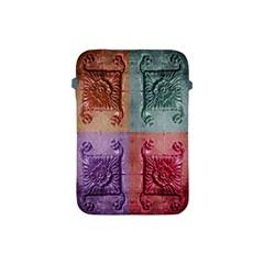 Vintage Flower Squares Apple Ipad Mini Protective Soft Cases