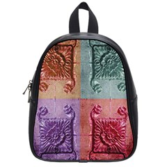 Vintage Flower Squares School Bags (small)