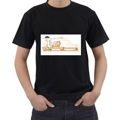 Grand Piano Action Men s Two Sided T Shirt (black)