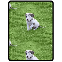 Pit Bull T Bone Puppy Double Sided Fleece Blanket (large)