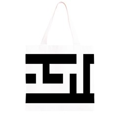 Black and White Grocery Light Tote Bag