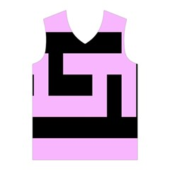 Black and Pink Men s Basketball Tank Top