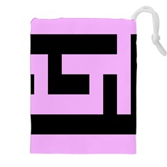 Black and Pink Drawstring Pouches (XXL)