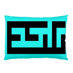 Black And Teal Pillow Case (two Sides)
