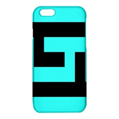 Black and Teal iPhone 6/6S TPU Case