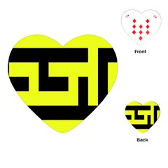 Black And Yellow Playing Cards (heart)