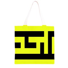 Black and Yellow Grocery Light Tote Bag