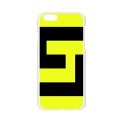 Black and Yellow Apple Seamless iPhone 6/6S Case (Transparent)