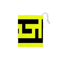 Black and Yellow Drawstring Pouches (XS)