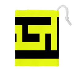 Black And Yellow Drawstring Pouches (extra Large)
