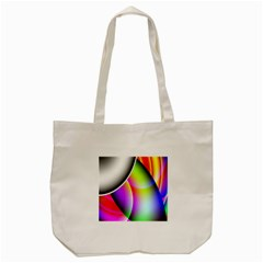 Psychedelic Design Tote Bag (cream)