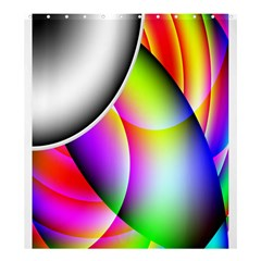 Psychedelic Design Shower Curtain 66  X 72  (large)