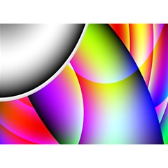 Psychedelic Design Birthday Cake 3d Greeting Card (7x5)