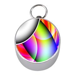 Psychedelic Design Mini Silver Compasses