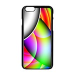 Psychedelic Design Apple iPhone 6/6S Black Enamel Case Front