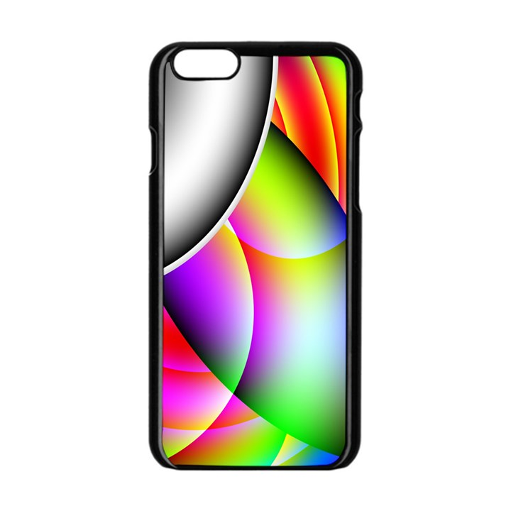 Psychedelic Design Apple iPhone 6/6S Black Enamel Case