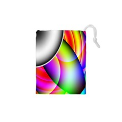 Psychedelic Design Drawstring Pouches (XS)