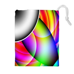 Psychedelic Design Drawstring Pouches (extra Large)