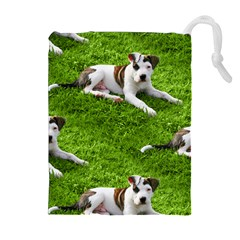 Pit Bull T Bone Puppy Drawstring Pouches (Extra Large)